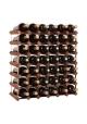 Mensolas - Mørkbejdset fyrretræ - 42 flasker
