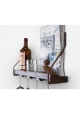 Vinobarto Balder - Brændt vinhylde med armering - til glas og magasiner