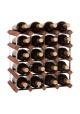 Mensolas - Mørkbejdset fyrretræ - 20 flasker