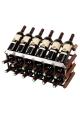 Mensolas - Display - 18 flasker - Mørkbejdset fyrretræ