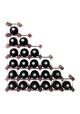 Mensolas - Trappe - 27 flasker - Mørkbejdset fyrretræ