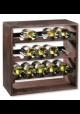 Vinreol Lago til 15 flasker - Mørk lakeret fyrretræ