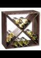 Vinreol Gavi til 24 flasker - Mørk lakeret fyrretræ