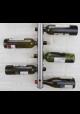 Væghængt vinreol til 8 flasker