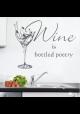 Wine is bottled poetry-wallsticker