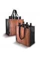Pulltex - Flasketaske til 6 flasker - trælook