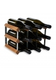 Vino Vita - mørkbejdset fyrretræ - 9 flasker