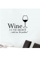 Wine is the answer-wallsticker
