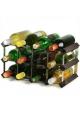 Vinreol i sort ask (30 flasker)