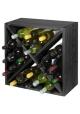 Vinreol i sort ask (24 flasker)