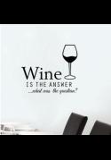 Wallstickers med vin